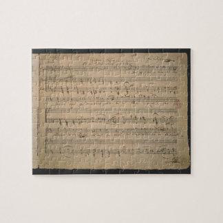 Antik notblad, sång av gamal man, 1822 pussel