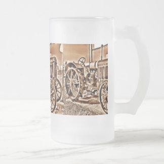 Antik Sepia för klassiker för Frostat Ölglas