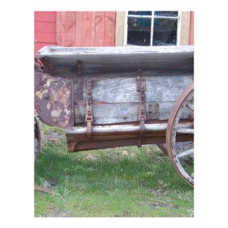 Antik vagn brevhuvud