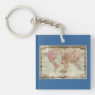 Antik världskarta av John Colton, circa 1854