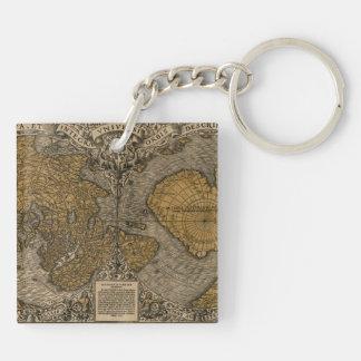 Antik världskarta för klassiker 1531 vid den