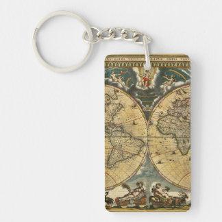 Antik världskarta J. Blaeu 1664