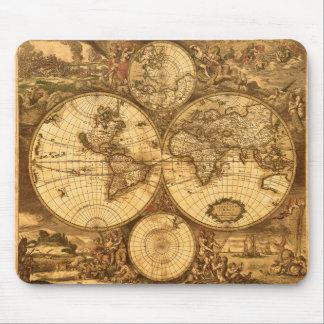 Antik världskarta musmatta