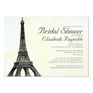 Antika Eiffel torninbjudningskort för möhippan 12,7 X 17,8 Cm Inbjudningskort
