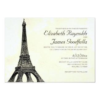 Antika inbjudningar för Eiffel tornbröllop