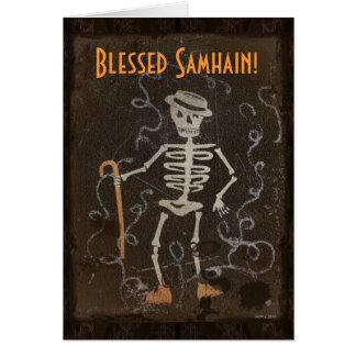 Antika skelett- Samhain Hälsningskort
