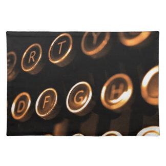 Antika skrivmaskinsnycklar bordstablett