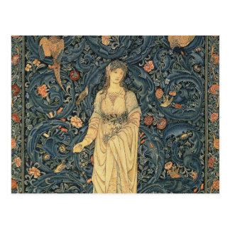 Antika William Morris floror Vykort