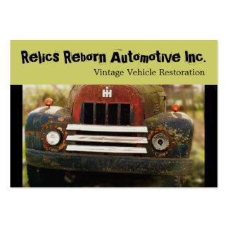 Antikt bilåterställande för vintage set av breda visitkort
