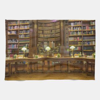 Antikt historiskt bibliotek kökshandduk