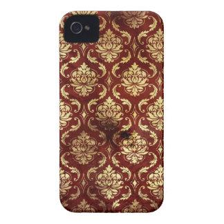 antikt rött blackberry boldfodral för damastast vi Case-Mate iPhone 4 fodraler