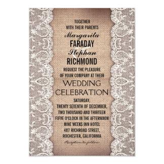 antikt snöre och lantliga 12,7 x 17,8 cm inbjudningskort