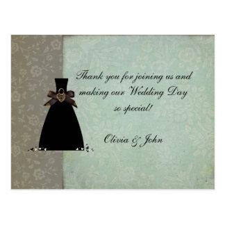 Antikt vintagetack (bröllop) vykort