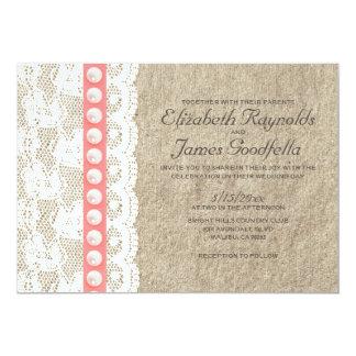Antikviteten pryder med pärlor bröllopinbjudningar 12,7 x 17,8 cm inbjudningskort