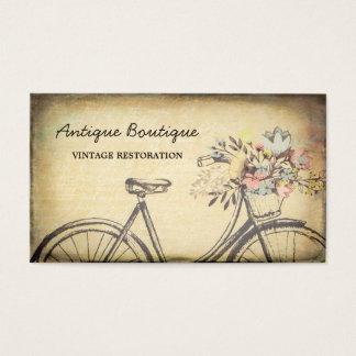 Antikviteten shoppar den blom- cykeln för visitkort