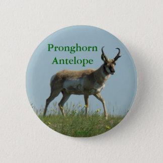 Antilop för A0010 Pronghorn Standard Knapp Rund 5.7 Cm
