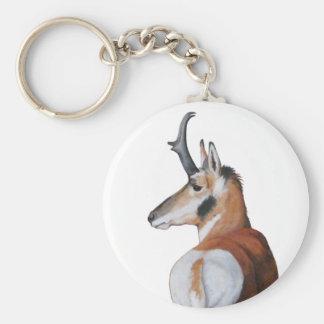 Antilop Keychain Rund Nyckelring