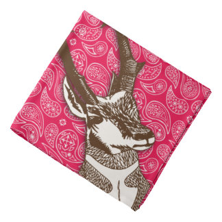 Antilop på röda Paisleys Bandana