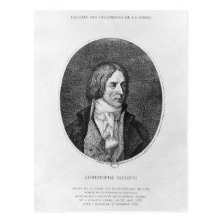 Antoine Christophe inristade Saliceti Vykort