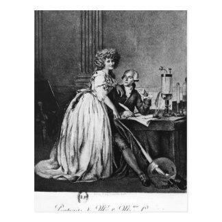 Antoine Laurent Lavoisier och hans fru Vykort