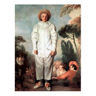 ANTOINE WATTEAU - Pierrot (Gilles) 1718 Vykort
