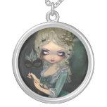 Antoinette för Marie maskeradHALSBAND gotiska Halsband Med Rund Hängsmycke