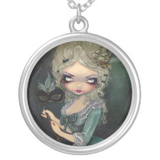 Antoinette för Marie maskeradHALSBAND gotiska Silverpläterat Halsband