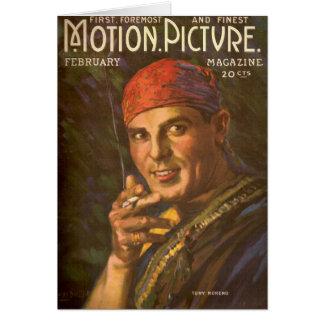 Antonio Moreno vintageillustration Hälsningskort