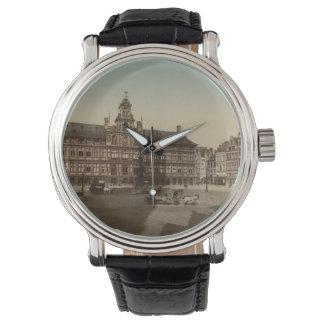 Antwerp stadshus, Antwerp, Belgien Armbandsur