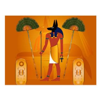 Anubis forntida egyptier vykort
