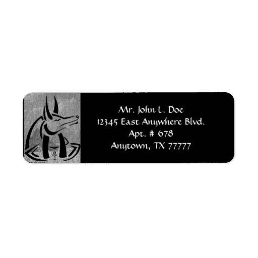 Anubis returadressetikett returadress etikett