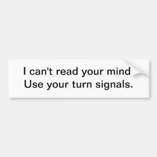 Använd dina blinkers bildekal