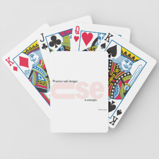 Använd ett begrepp som leker kort spelkort