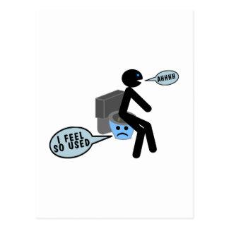 Använd toalett vykort