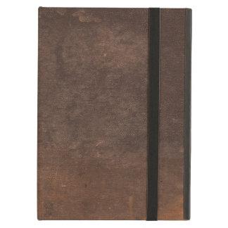 Använt och missbrukat vintagebruntbokomslag iPad air skydd