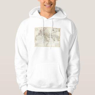 Anville karta 1794 av den forntida världen sweatshirt med luva