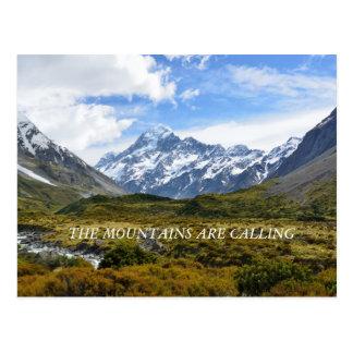 Aoraki/monteringskock New Zealand Vykort