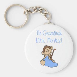 Apa för blåttmormödrar lite rund nyckelring