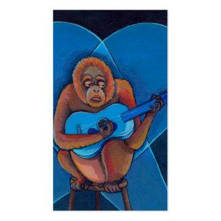 Apa för orangutan för gitarrist för deppighet för  set av standard visitkort