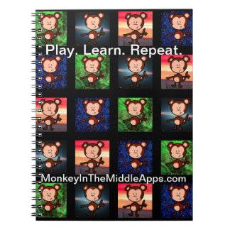 Apa i den mellersta Apps anteckningsboken Anteckningsbok Med Spiral
