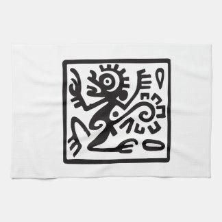 Apa mexicansk hieroglyph (Maya) Kökshandduk
