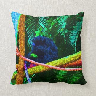 apa på färgrika plumpar för gren kudde