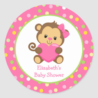 Apababy showerklistermärke, rosor och grönt runt klistermärke