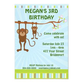 Apabarns födelsedagparty inbjudningskort