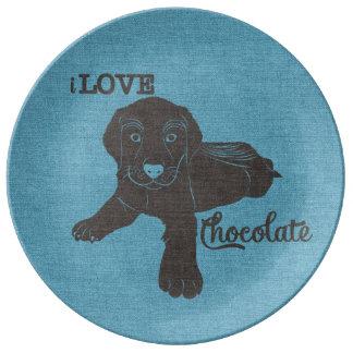 APAL - ChokladLabrador | hund älskare pläterar Porslinstallrik