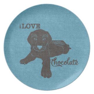 APAL - ChokladLabrador | hund älskare pläterar Tallrik