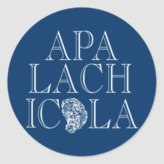 Apalachicola Florida ostrondesign Runt Klistermärke