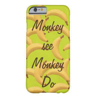 Apan ser apan göra roliga bananer barely there iPhone 6 skal