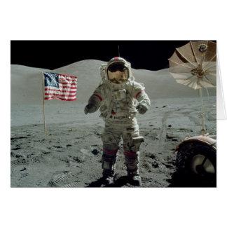 Apollo 17 astronaut i den OxenLittrow dalen Hälsningskort
