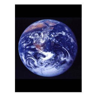 Apollo 17 beskådar av jord i utrymme vykort